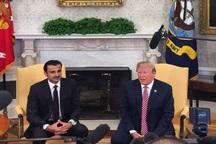 اظهارات امیر قطر علیه بشار اسد در دیدار با ترامپ