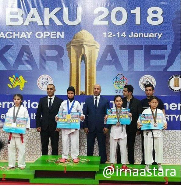 دانش آموز تالشی مدال طلای مسابقات آسیایی کاراته باکو را بر گردن آویخت